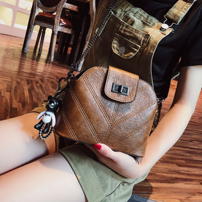 Leisure INS Style Single Buckle Lady Small Chain Shoulder Summer Messenger Bag