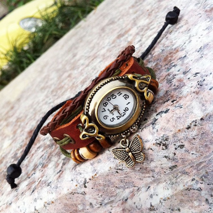 Lovely Butterfly Rope Bracelet Watch