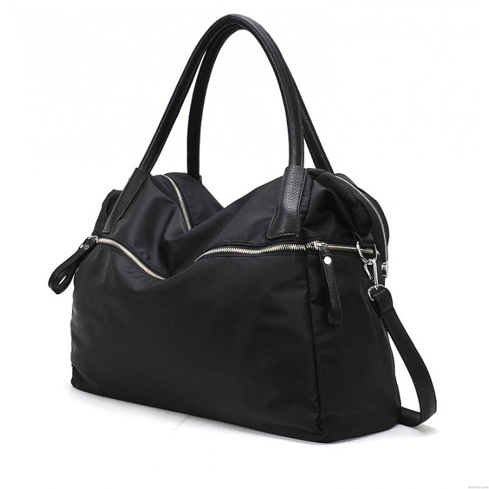 Fashion Black Zipper Handbag& Messenger bag