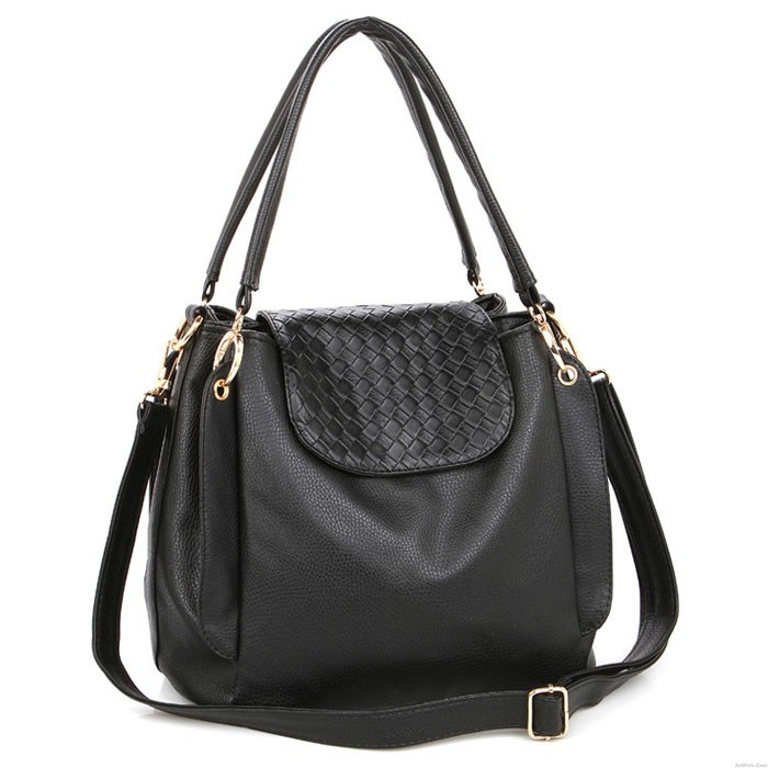 Fashion Pure Twist Weave Handbag &Crossbody Bag