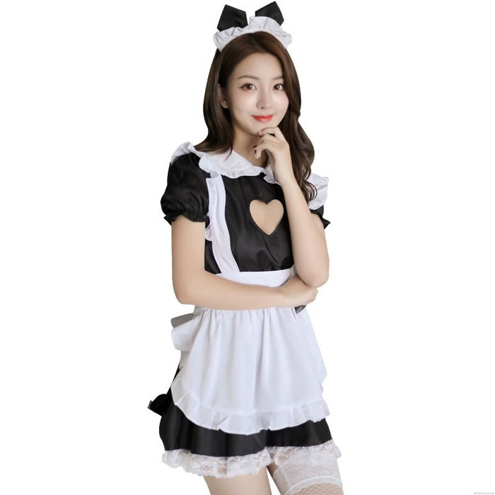 Sexy Uniform Temptation Love Hollow Lace Maid Cosplay Maid Costume Dress Maid Uniform Hot Teenage Lingerie
