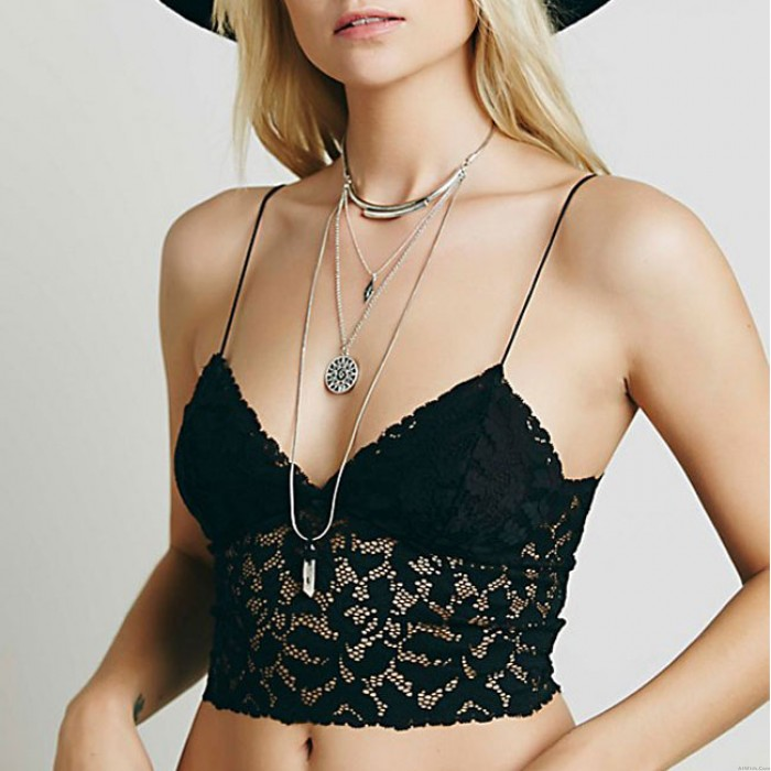 Sexy Flower Thin Lace Hollow Sling Camisoles Bras Women Intimate Lingerie