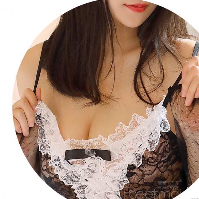 Sexy Lace Open Bunny Girl Transparent Uniform Temptation Cosplay Conjoind Lingerie