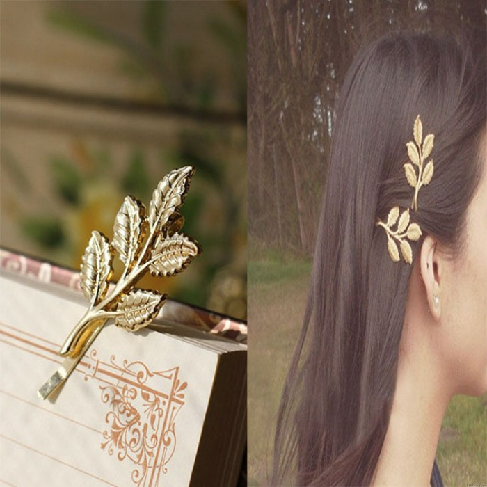 Vintage Beautiful Forest Style Olive Branch Leaves Bride Hairpin Hair Accessory