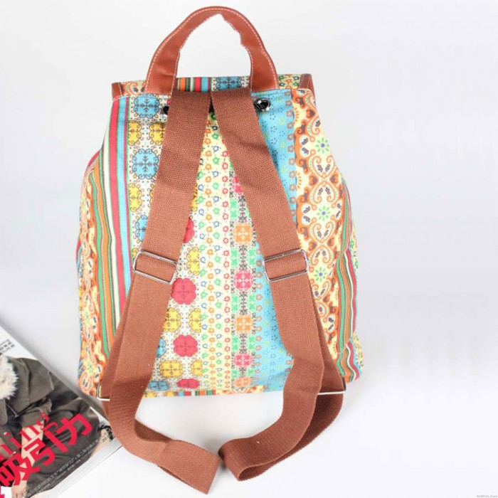 Folk Style Casual Anchors Travel Backpack