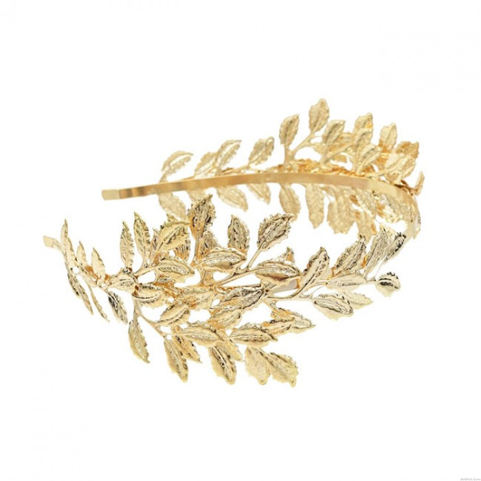 Sweet Leaf Headband Leaves Hoop Hair Clip Alloy Wedding Hair Accessories