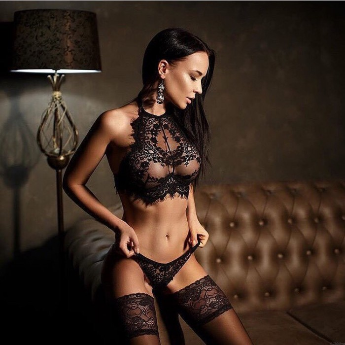 Sexy Lingerie See Through Halter Babydoll Women's Lace Lingerie