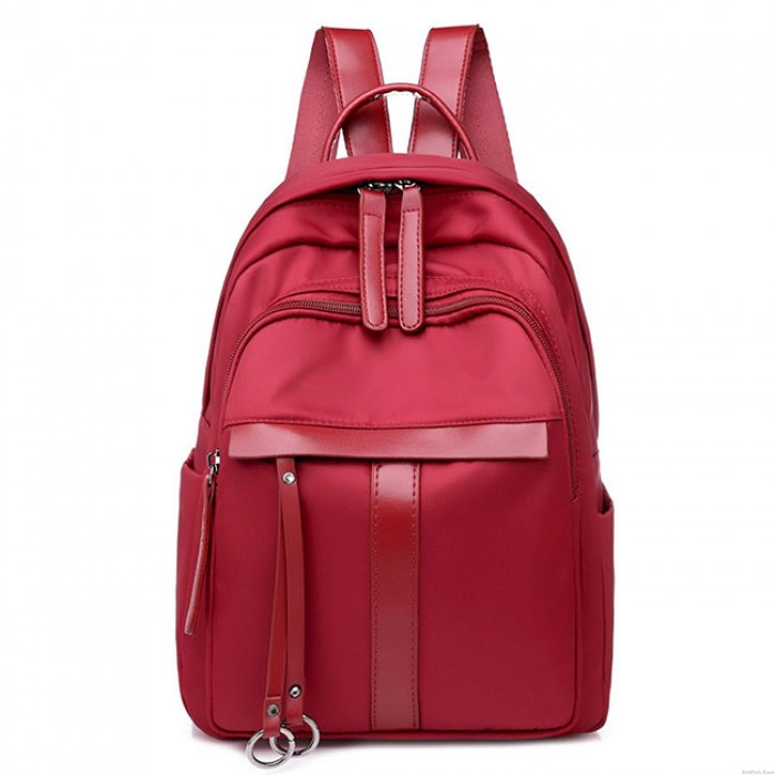Simple Student Bag Outdoor Pure Color Travel Backpack