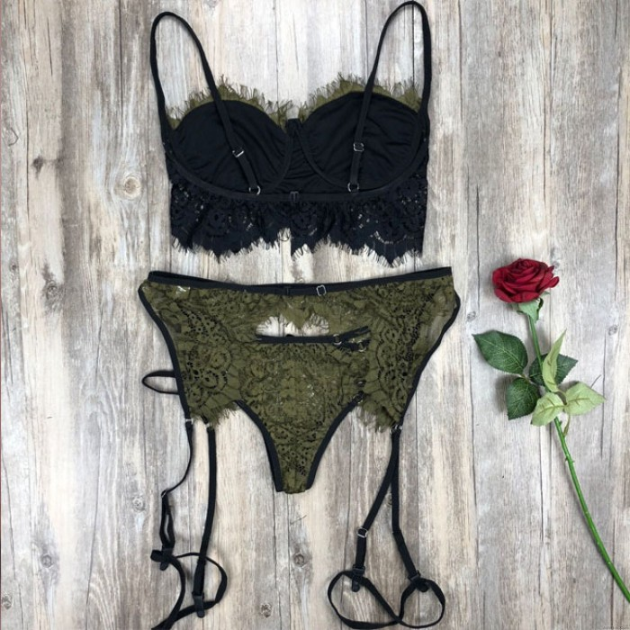 Sexy Lace Bra Set Hollow Sling Intimate Women Lingerie