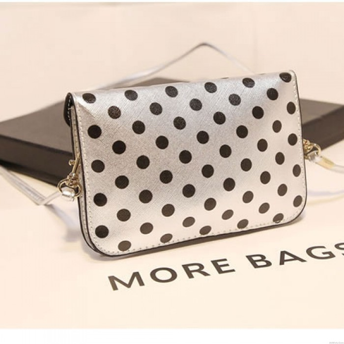 Lovely Wave Point Bow Mini Small Bag
