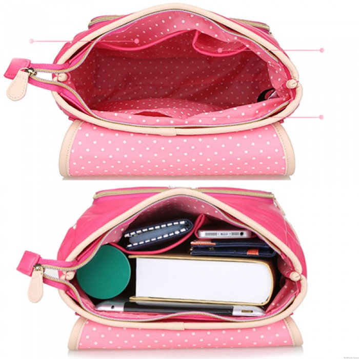 Sweet Lovely Lace Bow Mixed Color School Bag Travel Backpack