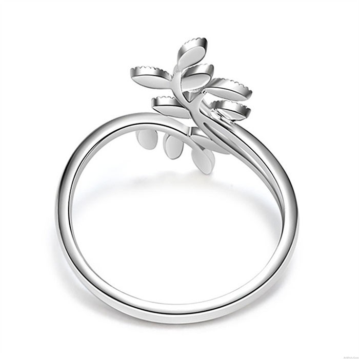 Unique Leaves Branch Personalized Willow Leaf Women Ring