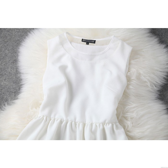 New Fashion Black And White Hem Embroidered Party Dress &Dress