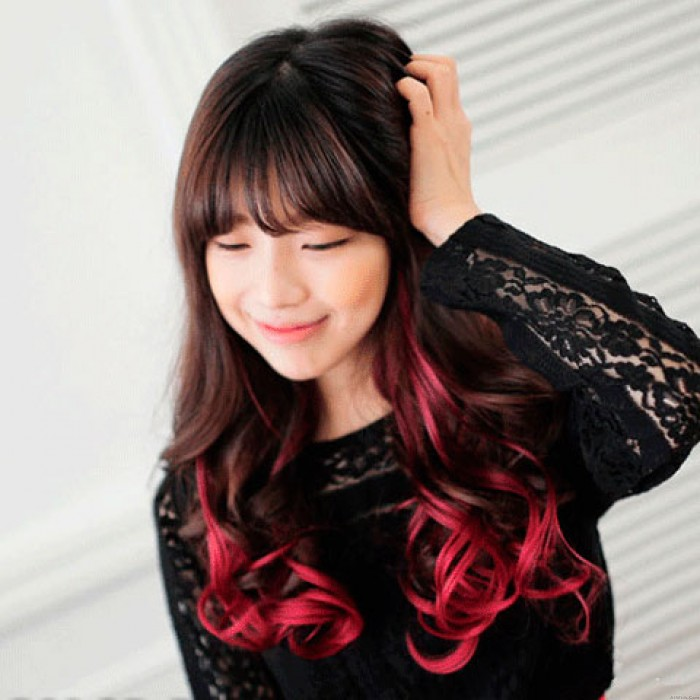 Highlights Colorful Loose Wavy Clip Hair Weft