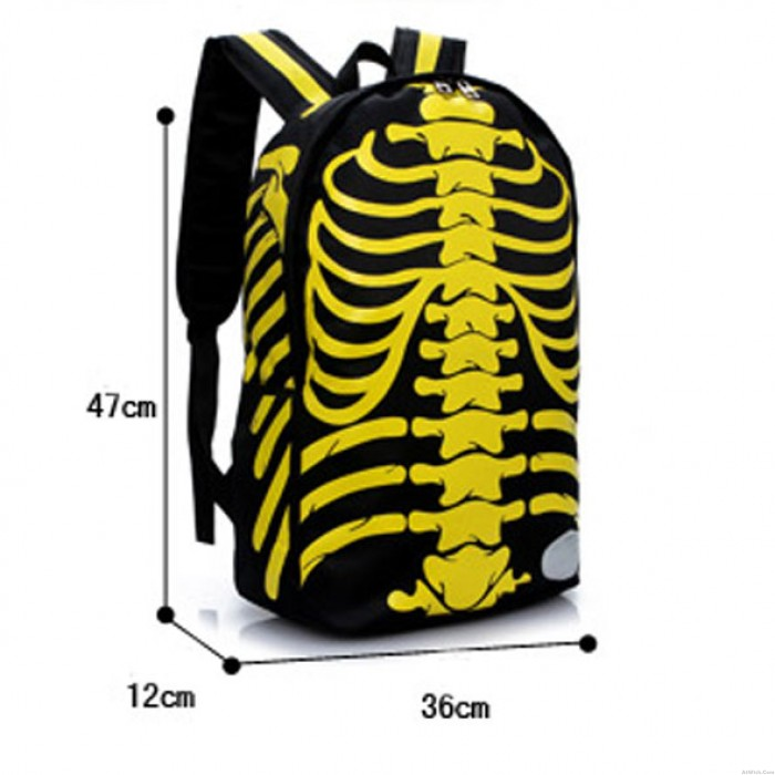 Unique Punk X-Ray Backpack&Schoolbag