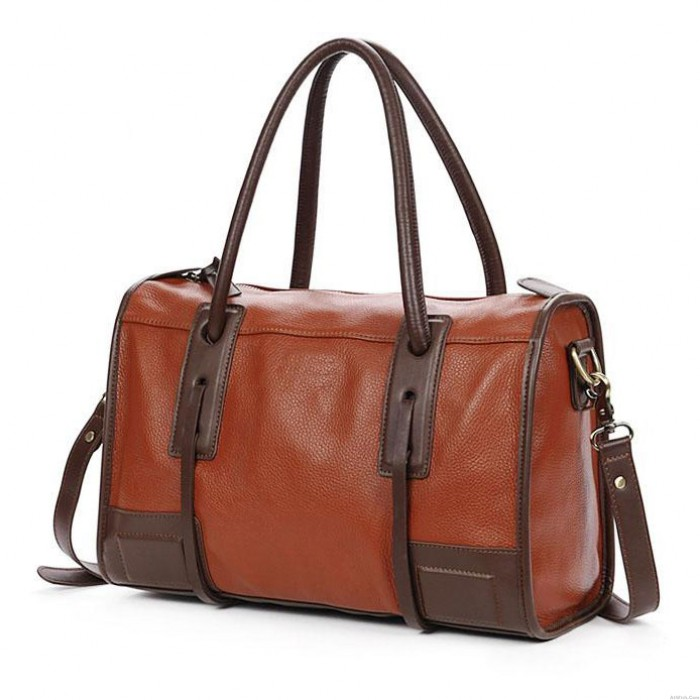 Retro Simple Brown Commuter Handbag