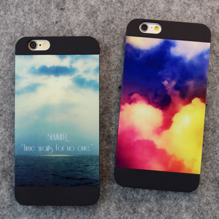 Fantastic Fresh Sky Sea Colorful Clouds Printing IPhone 5/5s/6/6p Cases