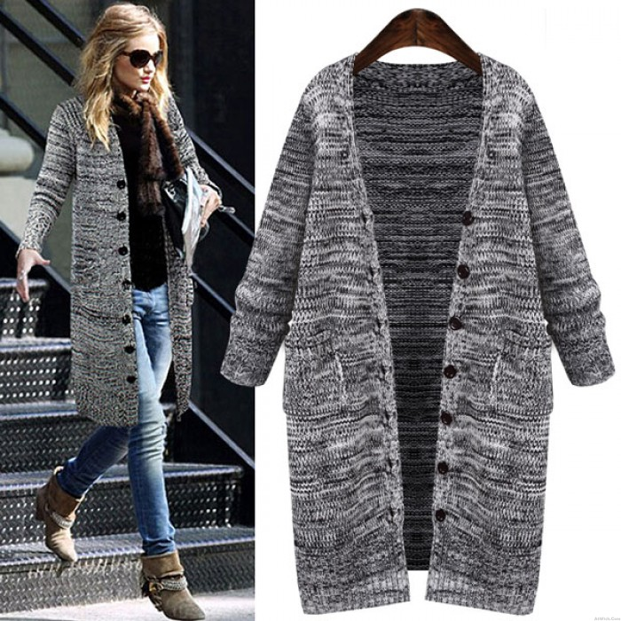 Thick Single Breasted Long Cardigan Sweater Coat