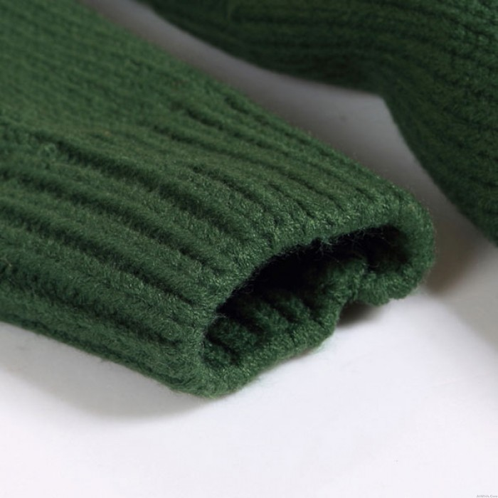 Fresh Green Loose Knitted Cardigan Sweater Coat