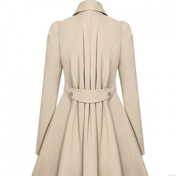 Winter Coat Trench Double-Breasted Slim Bodycon Wool Jacket Coat