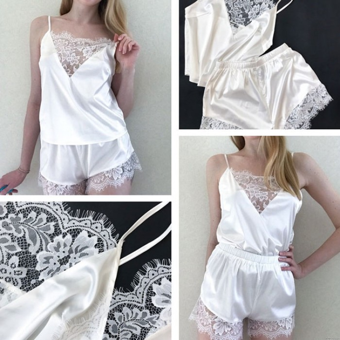 Sexy Top Shorts Lace Sling Women Lingerie Lace Pajamas