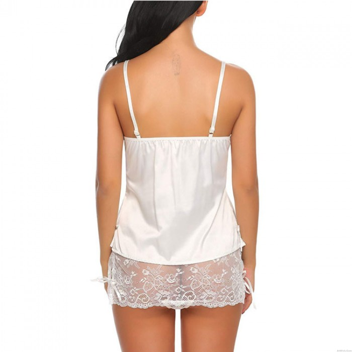 Sexy Lace Underwear Perspective Mesh Nightdress Temptation Sling Women Intimate Lingerie