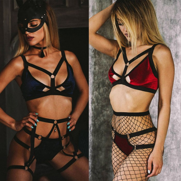 Sexy Flirting Female Prisoners Role Playing Bundle SM Cosplay Intimate Lingerie