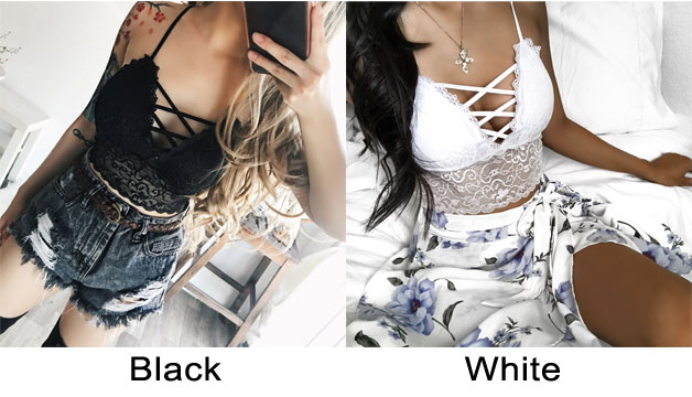 Sexy Lace Straps Wrapped Chest Shaping Bundling Camisoles Bras Women Intimate Lingerie