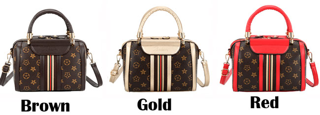 Retro Girl's PU Leather Handbag Multi-function Contrast Color Tote Shoulder Bag