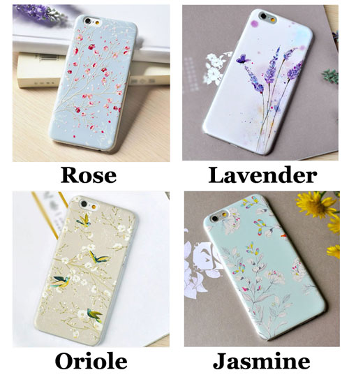 Fresh Crusty Art Flower Lavender Oriole Bird Relief IPhone 6/6p Cases