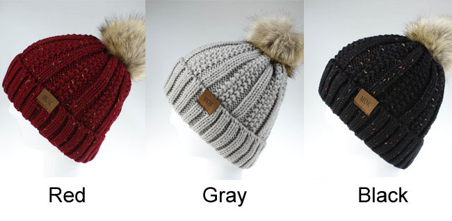 Fashion Hairball Wool Warm Hair Accessories Knit Hairbands Women Winter Hat