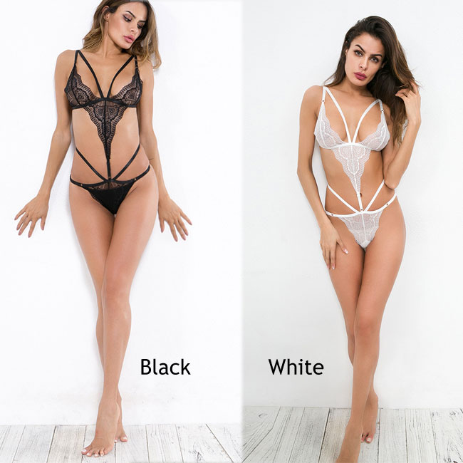 310234599 Sexy Black White Love Heart Lace Mesh Perspective Conjoined Underwear  Intimate Lingerie