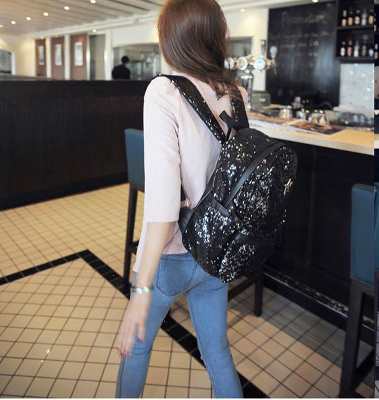 Shine Crown Sequins Backpack