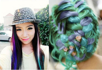 Fashion Gradient Clip Hair Weft Extensions