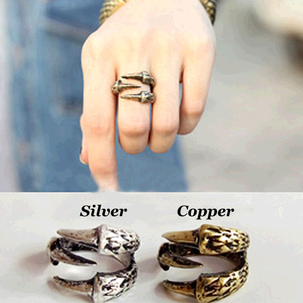 Retro Eagle Claw Alloy Rings Jewelry