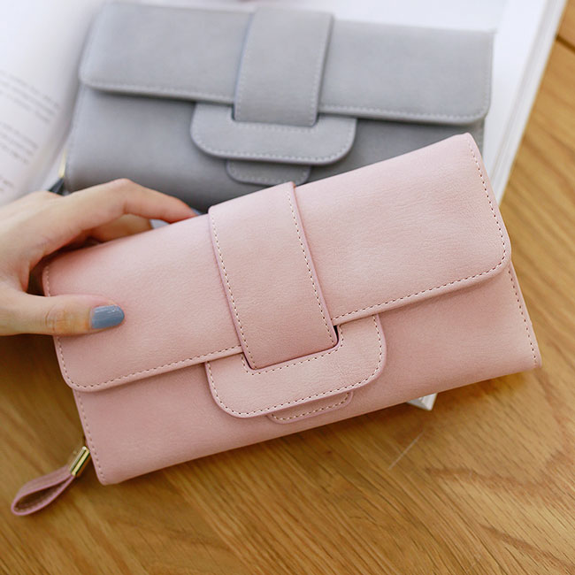 Fresh Square Whole Color PU Purse Wallet Girl's Clutch Bag