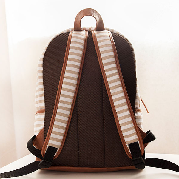 Latest Stripes Canvas Backpacks Schoolbags