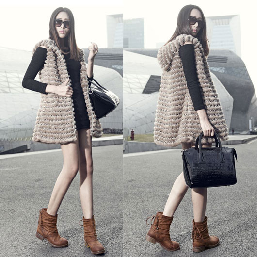 Retro Laces Irregular Fold Frosted Leather Boots