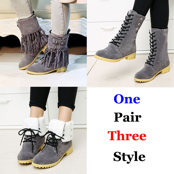 Martin Boots Multi Style Tassel Hasp Flat Tie Shoelaces Fashion Snow Boots