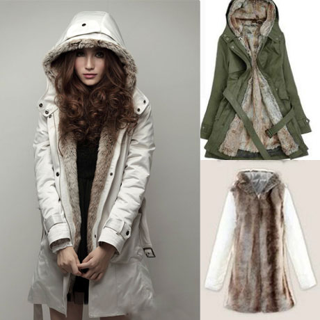 Plush Liner Thick Cotton Windbreaker/Jacket/Coat