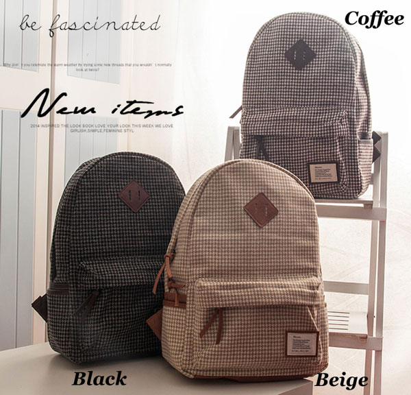 Casual Plaid Pattern Schoolbags Backpacks
