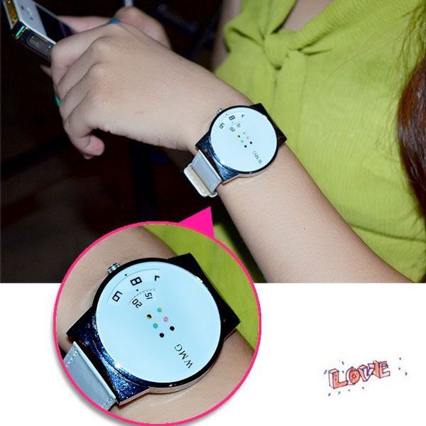 Originality Pretty RainBowknot Color Wheel Watch
