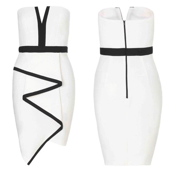 Graceful Irregular Sleeveless White Party Dress