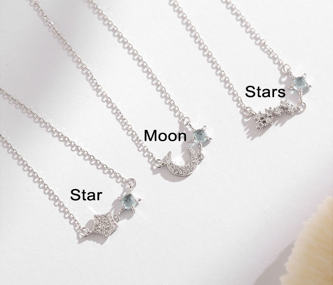 Cute Ocean Star Moon Opal Silver Girl's Bracelet